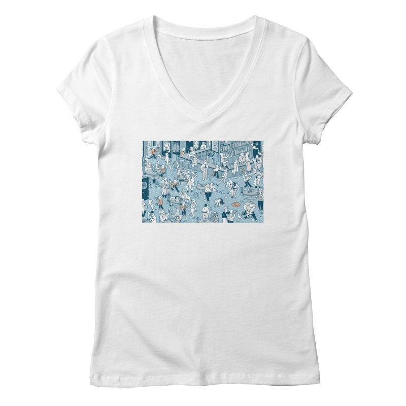 Pub T-shirt Women's Regular V-Neck by Mikko Saarainen's Artist Shop