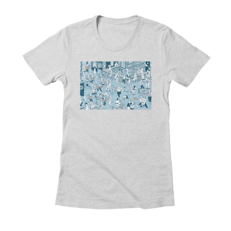 Pub T-shirt Women's Fitted T-Shirt by Mikko Saarainen's Artist Shop