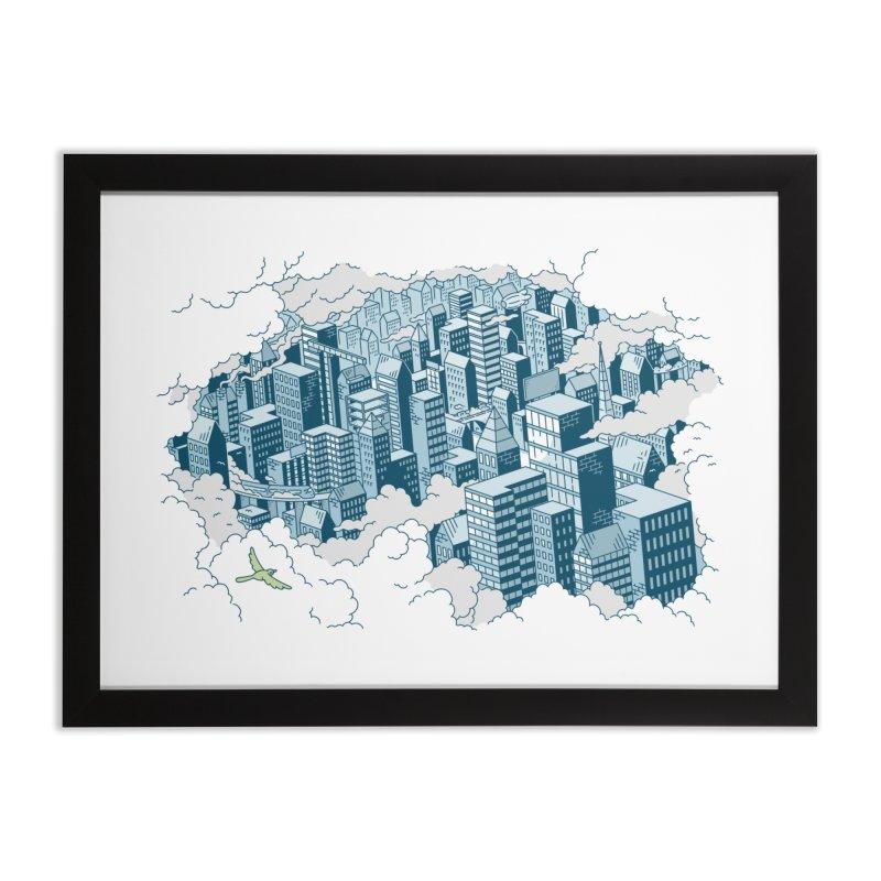 City Art Print Home Framed Fine Art Print by Mikko Saarainen's Artist Shop