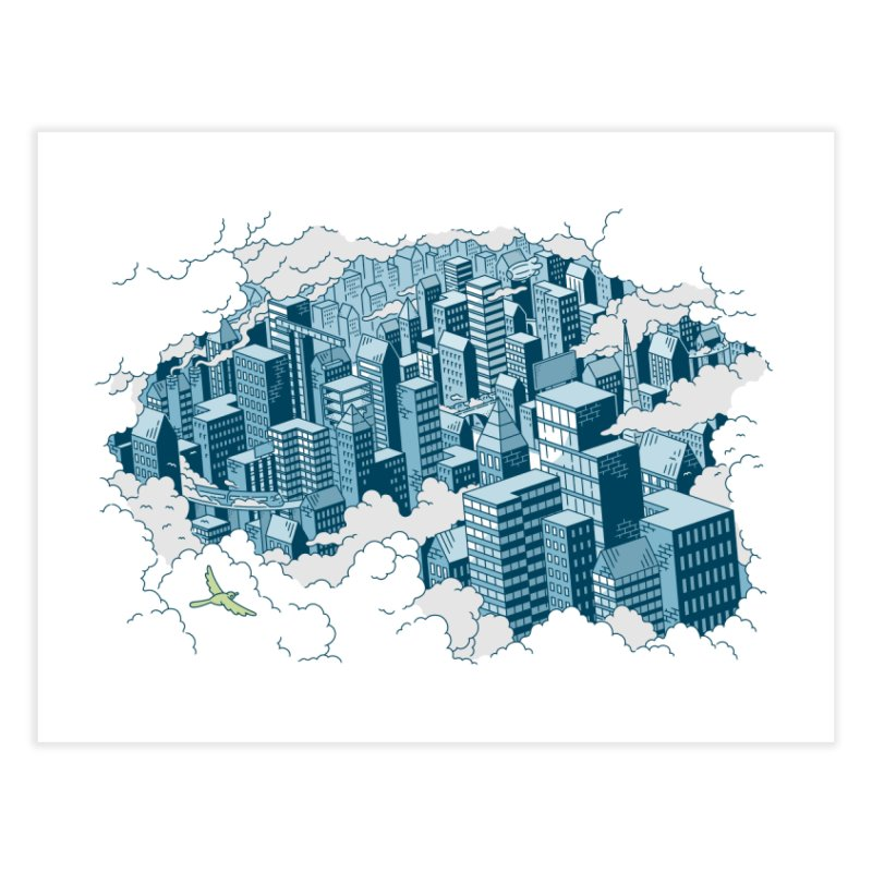 City Art Print Home Fine Art Print by Mikko Saarainen's Artist Shop