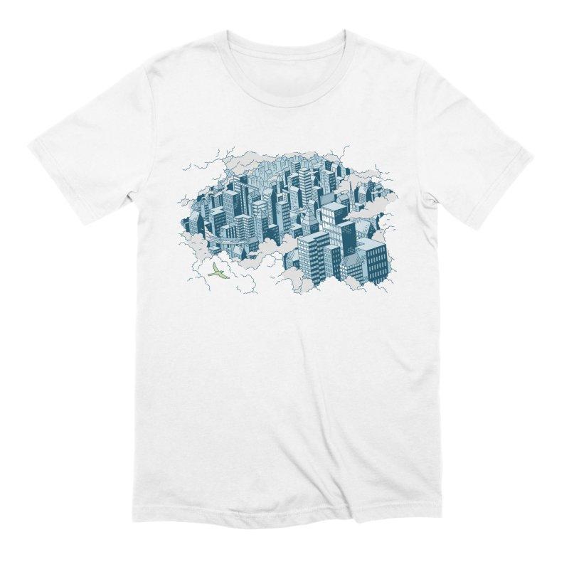 City T-shirt Men's Extra Soft T-Shirt by Mikko Saarainen's Artist Shop