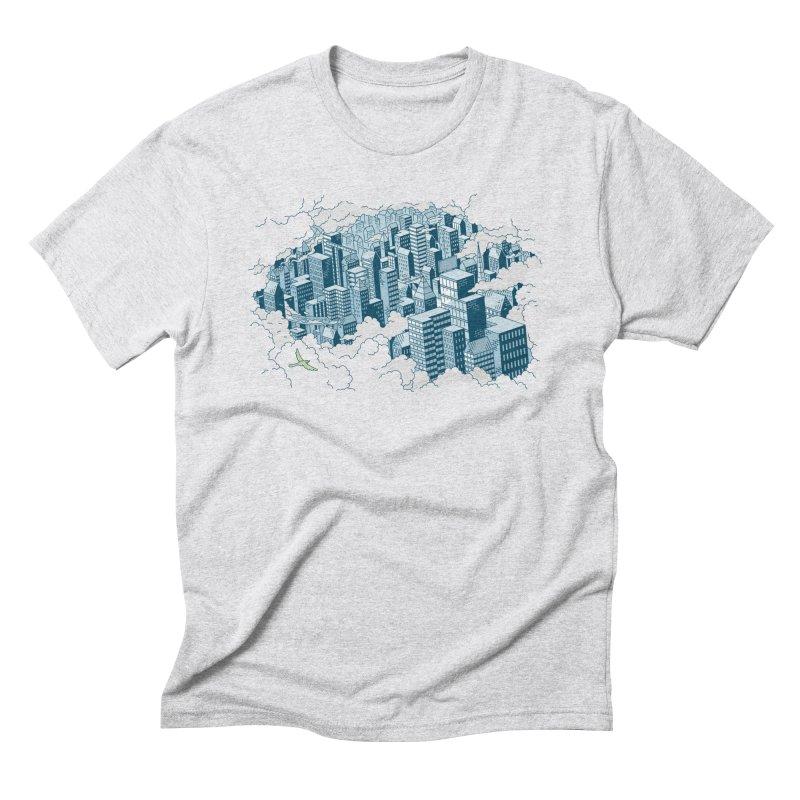 City T-shirt Men's Triblend T-Shirt by Mikko Saarainen's Artist Shop