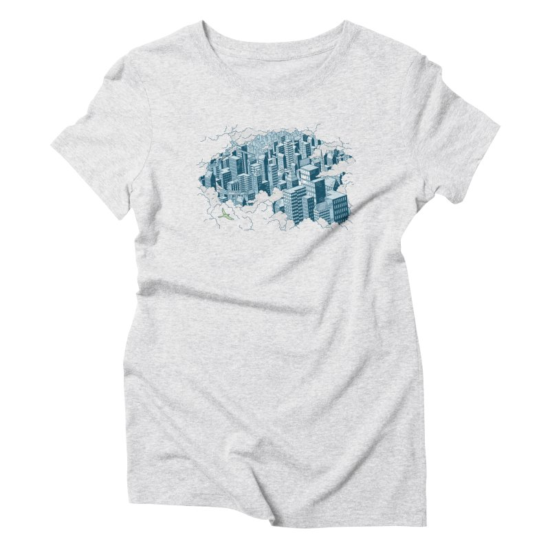City T-shirt Women's Triblend T-Shirt by Mikko Saarainen's Artist Shop
