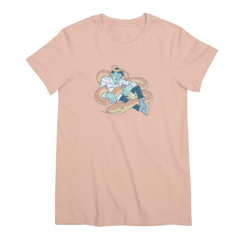 Snake T-shirt Women's Premium T-Shirt by Mikko Saarainen's Artist Shop