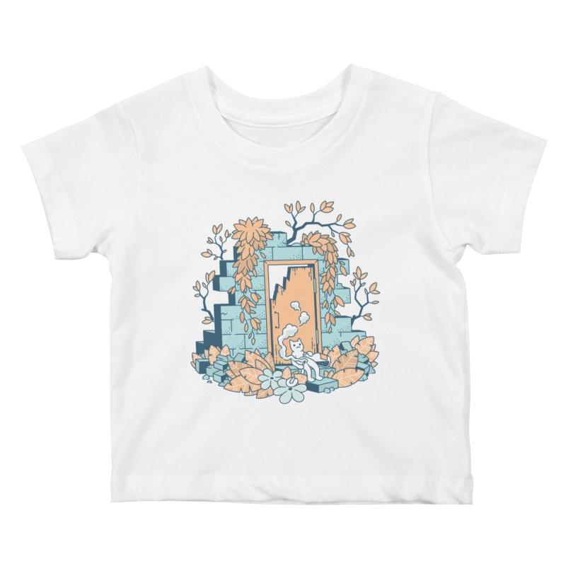 Cat T-shirt Kids Baby T-Shirt by Mikko Saarainen's Artist Shop