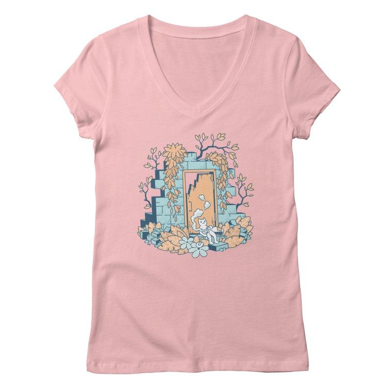 Cat T-shirt Women's Regular V-Neck by Mikko Saarainen's Artist Shop