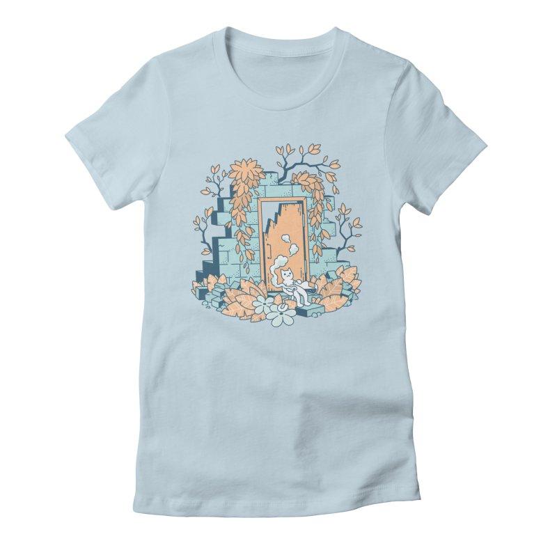 Cat T-shirt Women's Fitted T-Shirt by Mikko Saarainen's Artist Shop