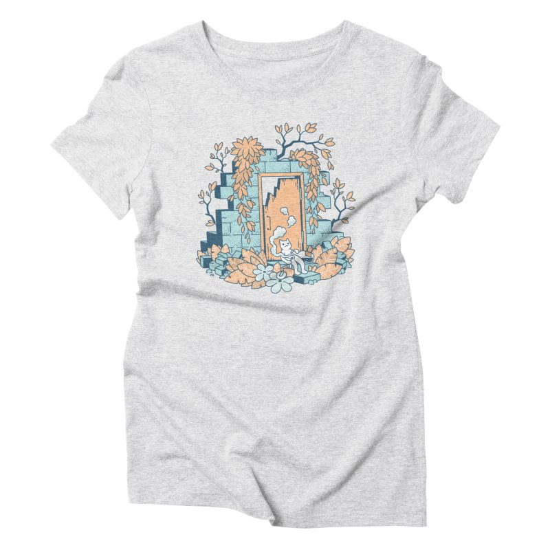 Cat T-shirt Women's Triblend T-Shirt by Mikko Saarainen's Artist Shop