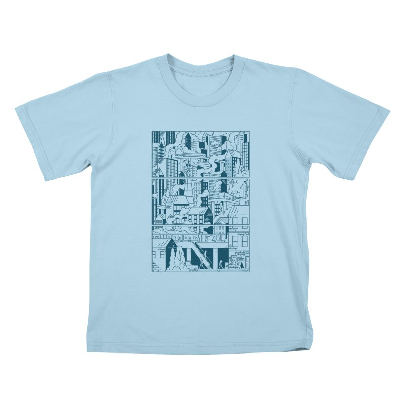 Comic Page T-shirt Kids T-Shirt by Mikko Saarainen's Artist Shop