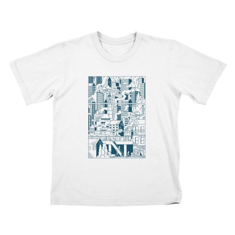 Comic Page T-shirt Kids T-Shirt by Mikko Saarainen's Artist Shop