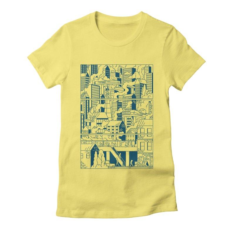 Comic Page T-shirt Women's T-Shirt by Mikko Saarainen's Artist Shop