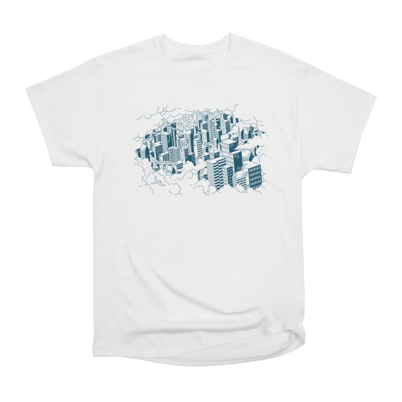 City Line Art T-Shirt Men's T-Shirt by Mikko Saarainen's Artist Shop
