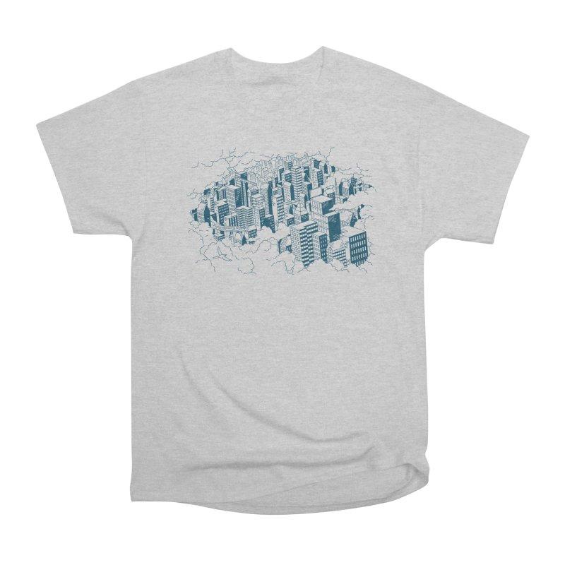City Line Art T-Shirt Men's T-Shirt by Mikko Saarainen's Artist Shop