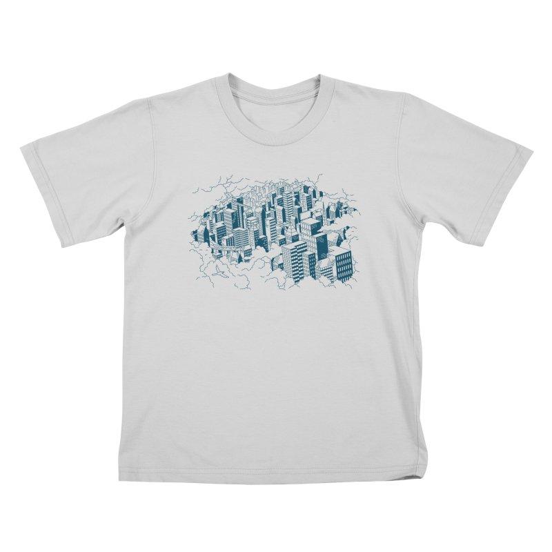 City Line Art T-Shirt Kids T-Shirt by Mikko Saarainen's Artist Shop