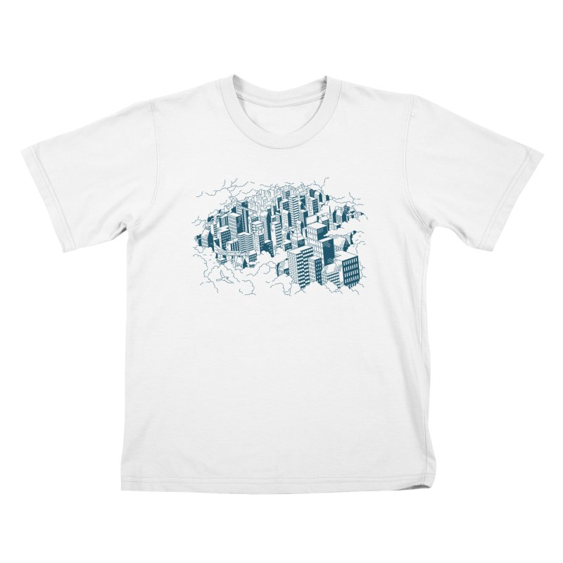 City Line Art T-Shirt Kids T-Shirt by Mikko Saarainen's Artist Shop