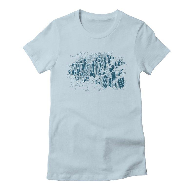 City Line Art T-Shirt Women's T-Shirt by Mikko Saarainen's Artist Shop