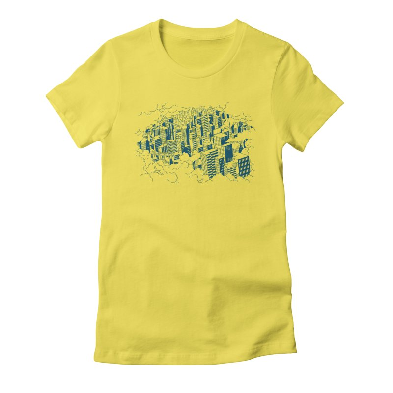City Line Art T-Shirt Women's T-Shirt by Mikko Saarainen's Artist Shop