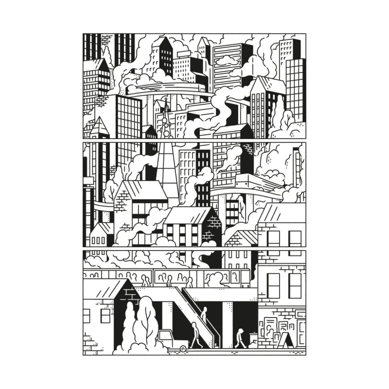 Comic Page Sweatshirt Men's Sweatshirt by Mikko Saarainen's Artist Shop