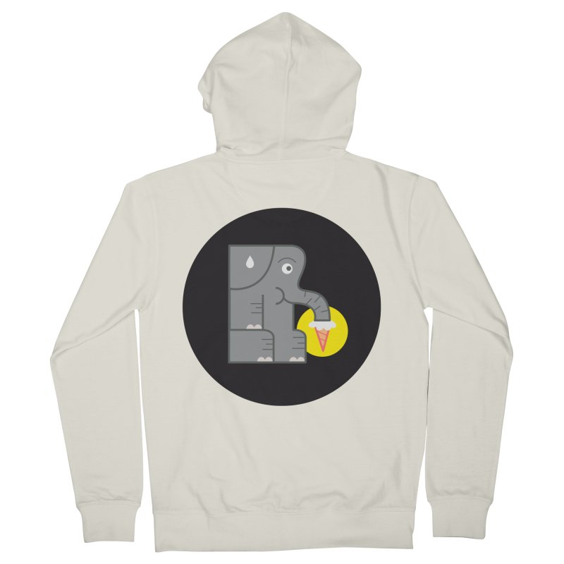 Elephant Ice Cream Women's Zip-Up Hoody by milanrubio's Artist Shop