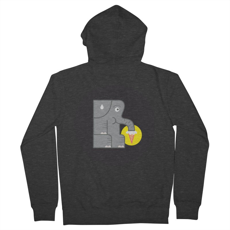 Elephant Ice Cream Men's Zip-Up Hoody by milanrubio's Artist Shop