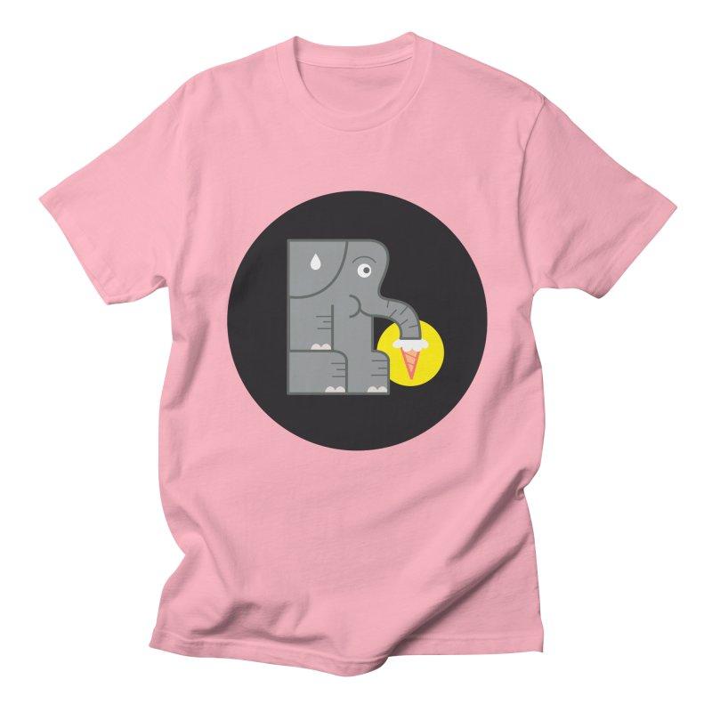 Elephant Ice Cream Men's T-Shirt by milanrubio's Artist Shop