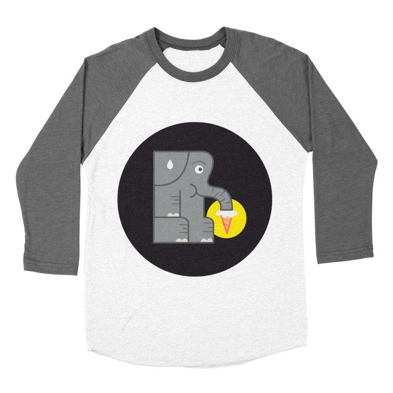 Elephant Ice Cream Men's Baseball Triblend T-Shirt by milanrubio's Artist Shop