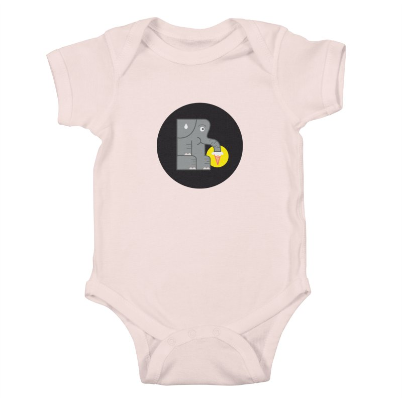 Elephant Ice Cream Kids Baby Bodysuit by milanrubio's Artist Shop