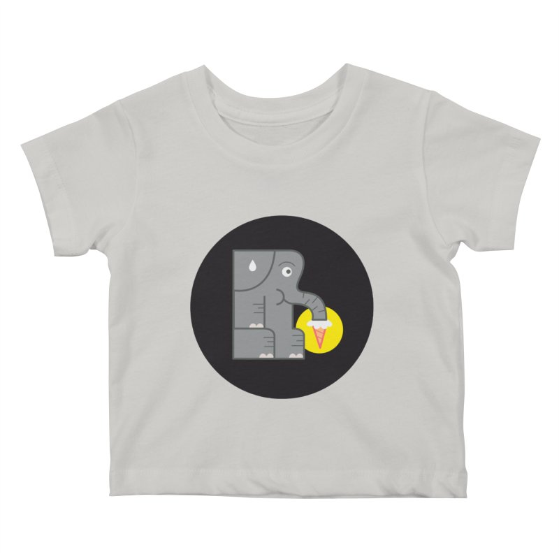 Elephant Ice Cream Kids Baby T-Shirt by milanrubio's Artist Shop