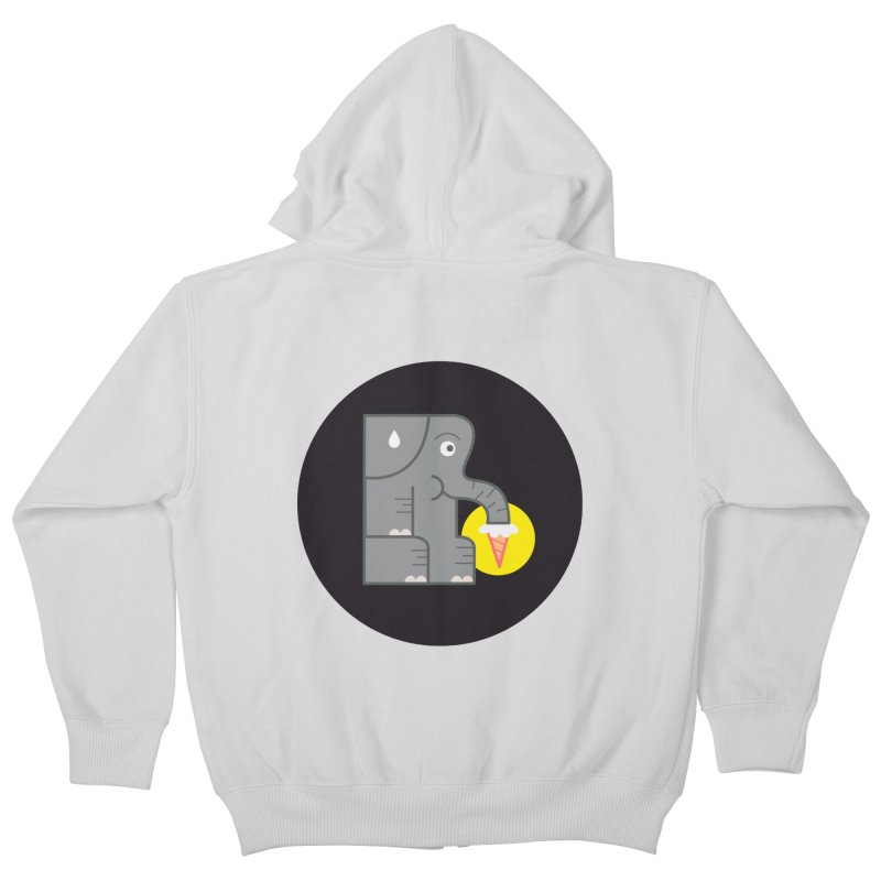 Elephant Ice Cream Kids Zip-Up Hoody by milanrubio's Artist Shop