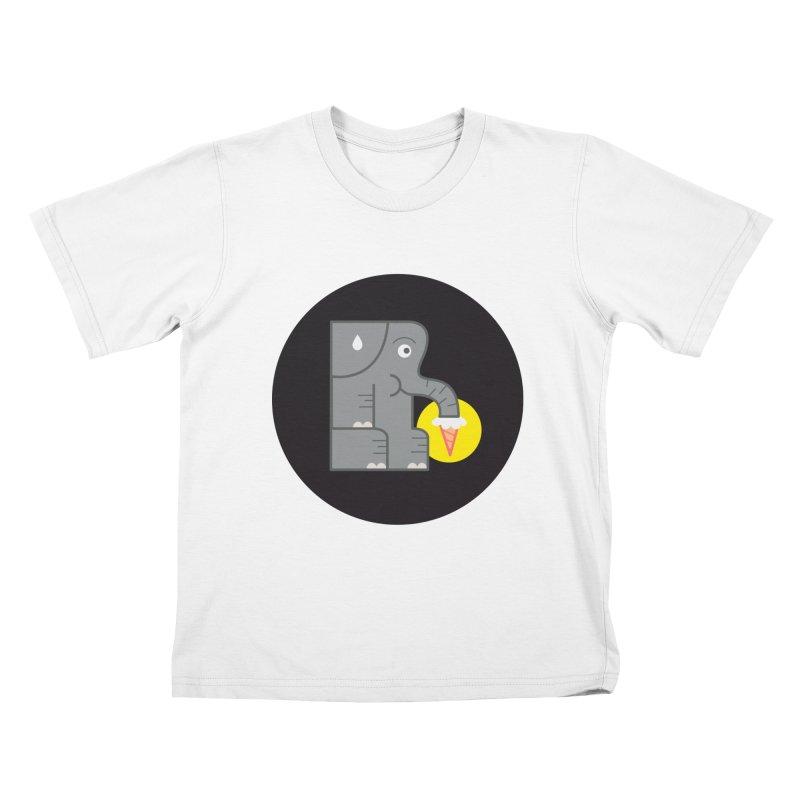 Elephant Ice Cream Kids T-shirt by milanrubio's Artist Shop