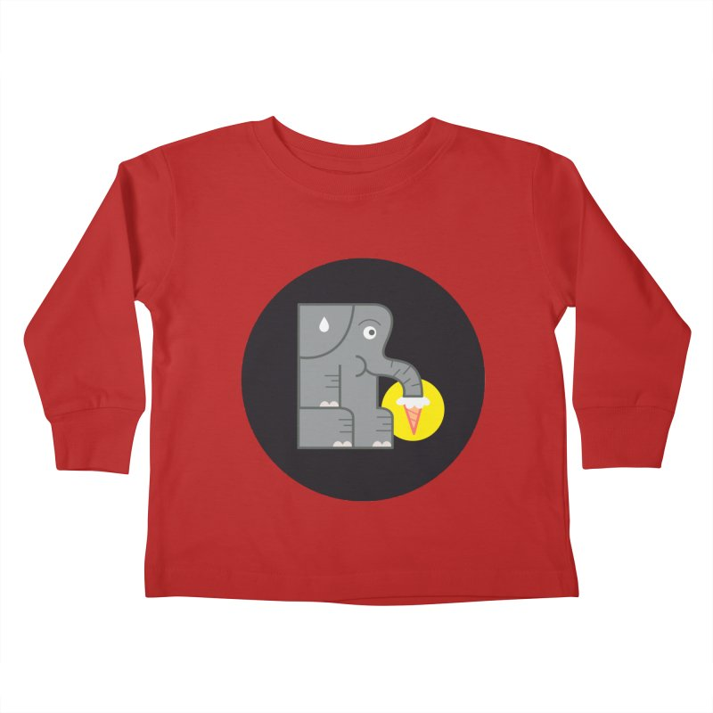 Elephant Ice Cream Kids Toddler Longsleeve T-Shirt by milanrubio's Artist Shop