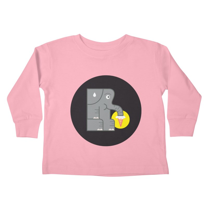 Elephant Ice Cream Kids Toddler Longsleeve T-Shirt by milanrubio's Artist Shop