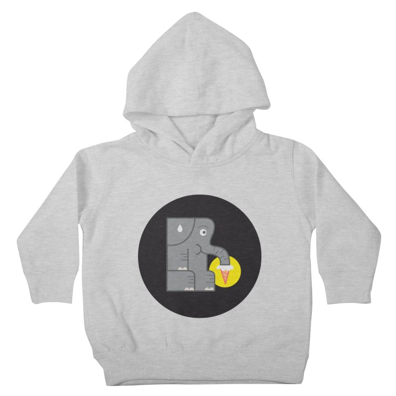 Elephant Ice Cream Kids Toddler Pullover Hoody by milanrubio's Artist Shop