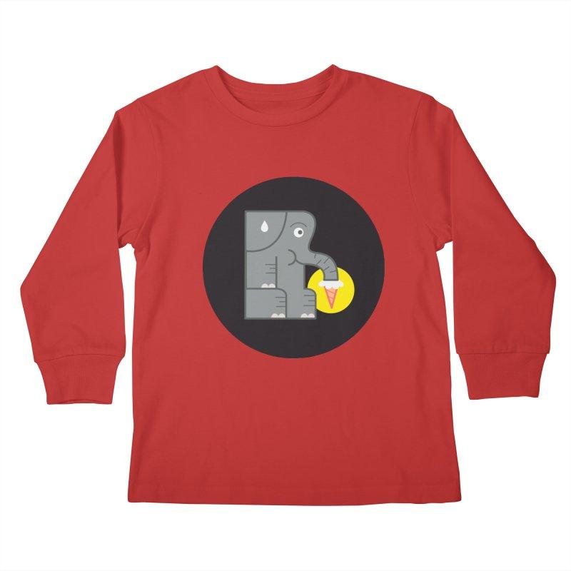 Elephant Ice Cream Kids Longsleeve T-Shirt by milanrubio's Artist Shop