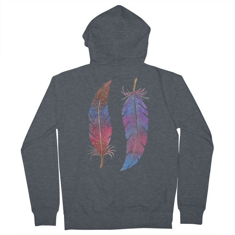 Feathers Women's Zip-Up Hoody by milenabdesign's Artist Shop
