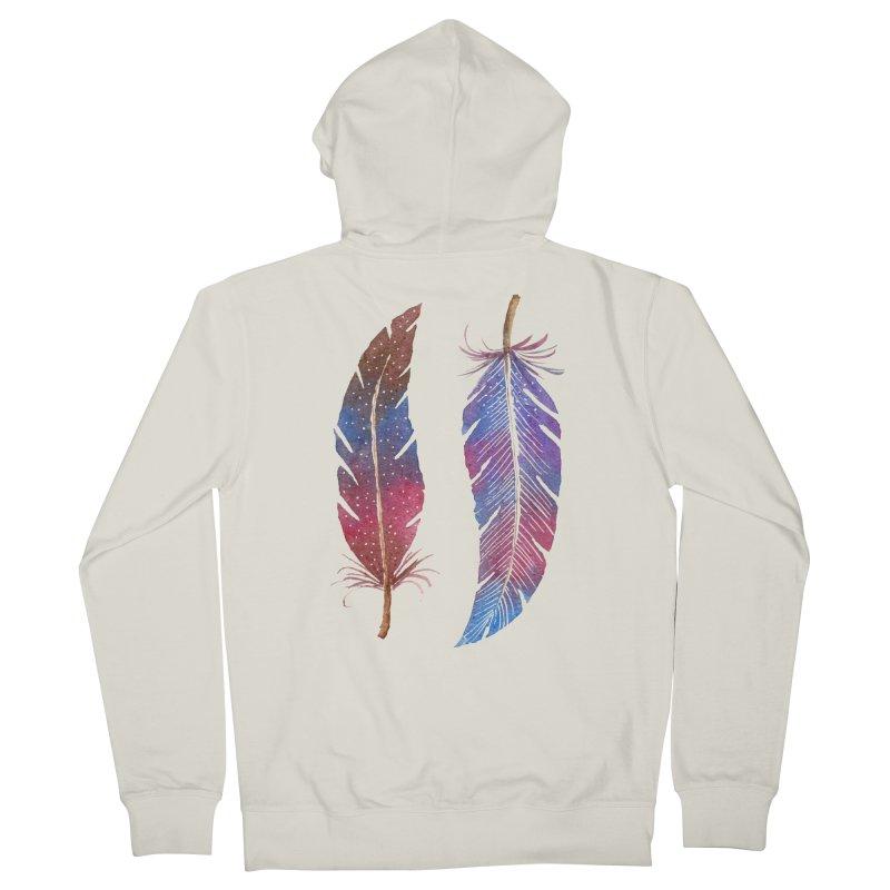 Feathers Women's Zip-Up Hoody by milenabdesign's Artist Shop