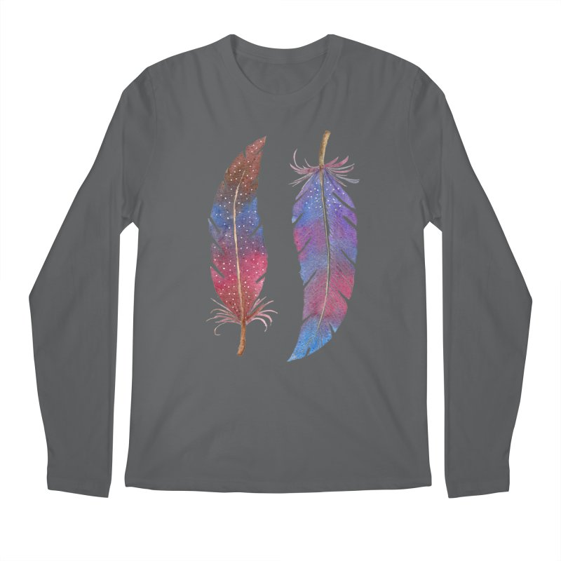 Feathers Men's Longsleeve T-Shirt by milenabdesign's Artist Shop