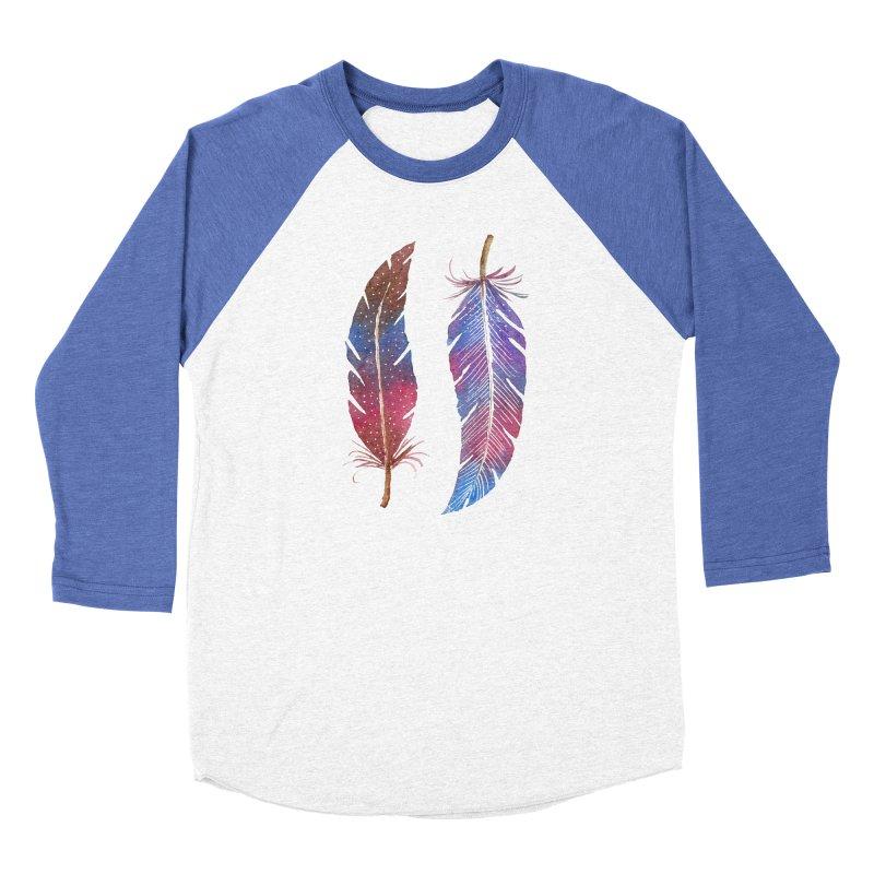 Feathers Men's Baseball Triblend Longsleeve T-Shirt by milenabdesign's Artist Shop