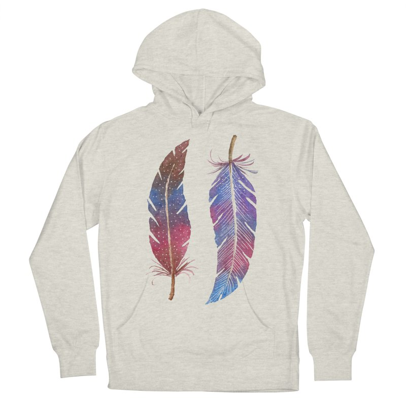Feathers Men's French Terry Pullover Hoody by milenabdesign's Artist Shop