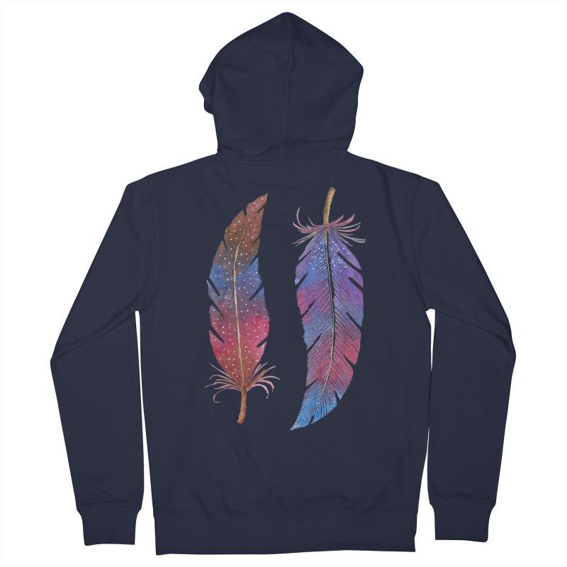 Feathers Men's Zip-Up Hoody by milenabdesign's Artist Shop