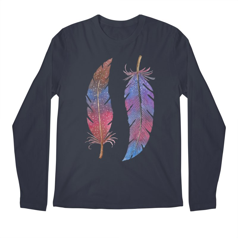 Feathers Men's Longsleeve T-Shirt by milenabdesign's Artist Shop
