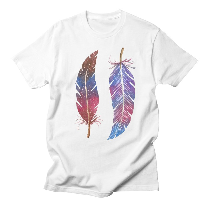 Feathers Men's Regular T-Shirt by milenabdesign's Artist Shop