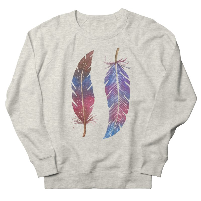 Feathers Women's French Terry Sweatshirt by milenabdesign's Artist Shop