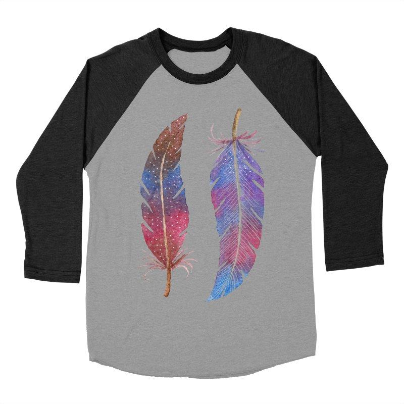 Feathers Women's Baseball Triblend Longsleeve T-Shirt by milenabdesign's Artist Shop
