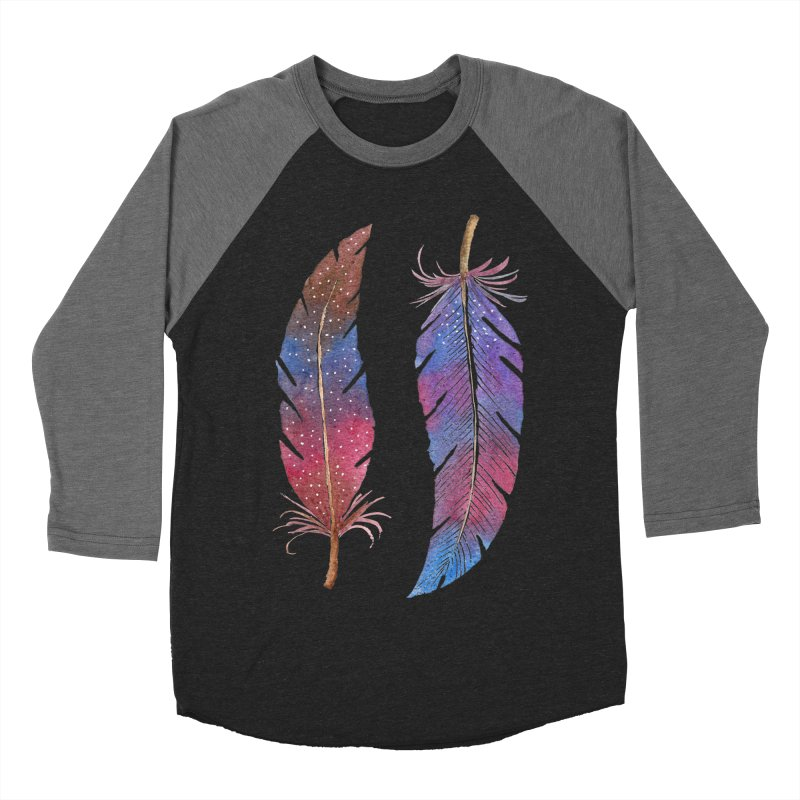 Feathers Men's Baseball Triblend Longsleeve T-Shirt by milenabdesign's Artist Shop