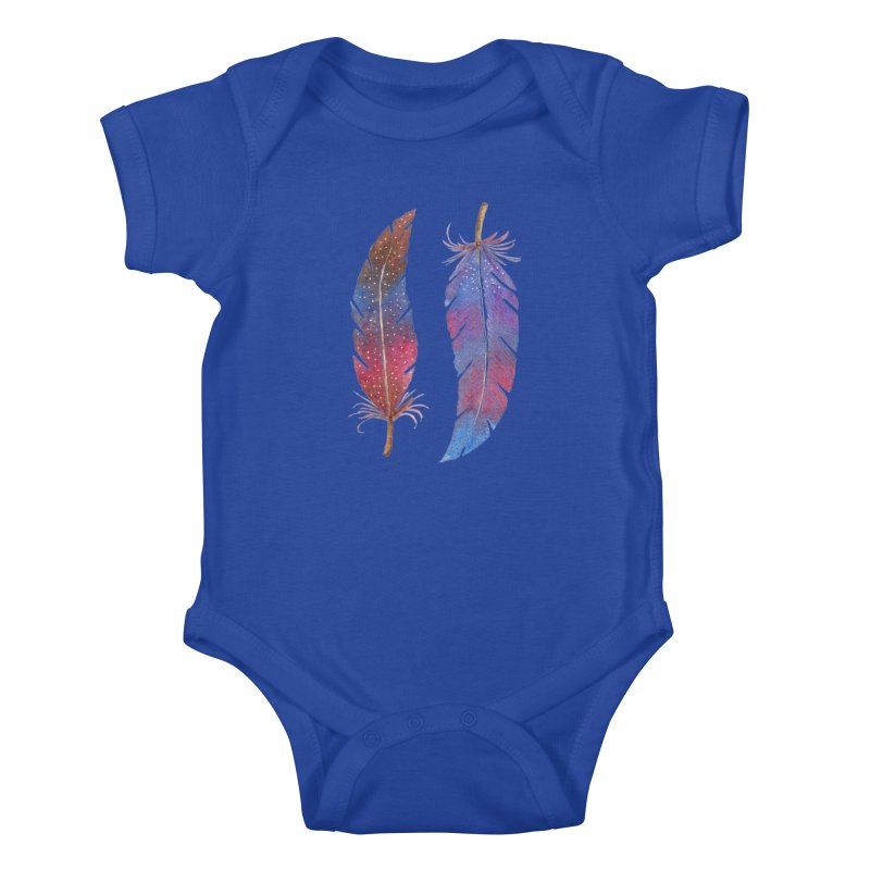 Feathers Kids Baby Bodysuit by milenabdesign's Artist Shop