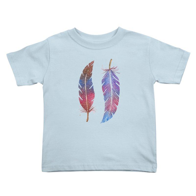 Feathers Kids Toddler T-Shirt by milenabdesign's Artist Shop