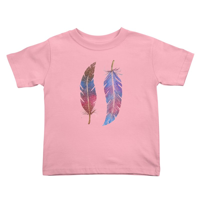 Feathers Kids Toddler T-Shirt by milenabdesign's Artist Shop