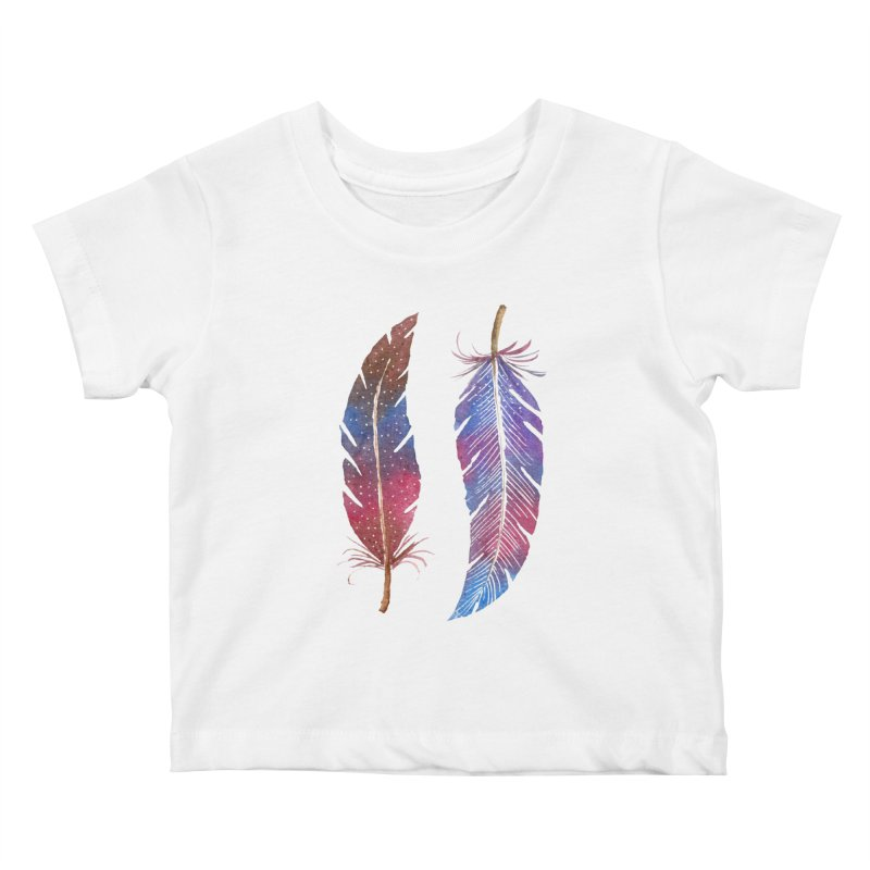 Feathers Kids Baby T-Shirt by milenabdesign's Artist Shop