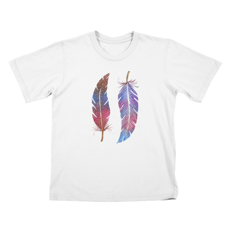 Feathers Kids T-Shirt by milenabdesign's Artist Shop